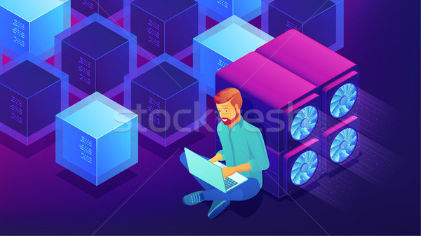 Isometric blockchain development concept. Stock photo © RAStudio