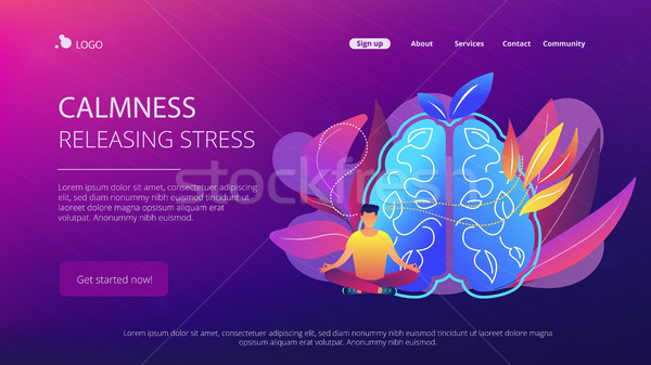 Calmness and releasing stress concept landing page. Stock photo © RAStudio