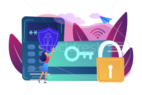 Security access card concept vector illustration. Stock photo © RAStudio