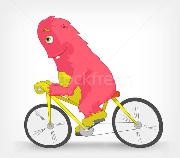 Funny Monster. Biker. Stock photo © RAStudio