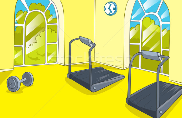 Gymnasium kamer trainers vector cartoon eps Stockfoto © RAStudio
