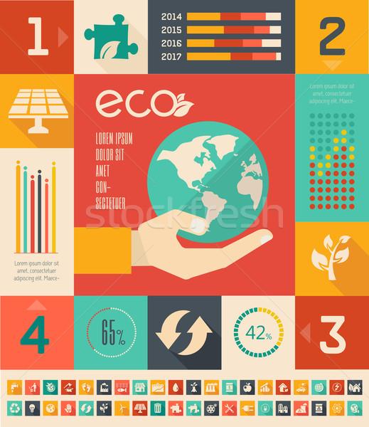 Ecology Infographic Template. Stock photo © RAStudio