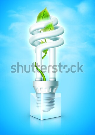 Luminous Bulb With Plant Stock photo © RAStudio