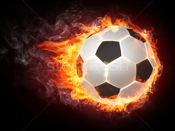 Ballon feu graphiques ordinateur design football Photo stock © RAStudio