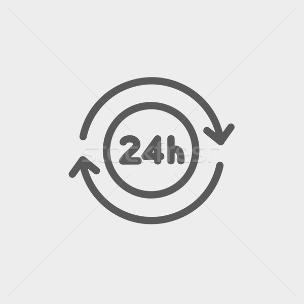 Kényelmesség szolgáltatás vékony vonal ikon 24 Stock fotó © RAStudio