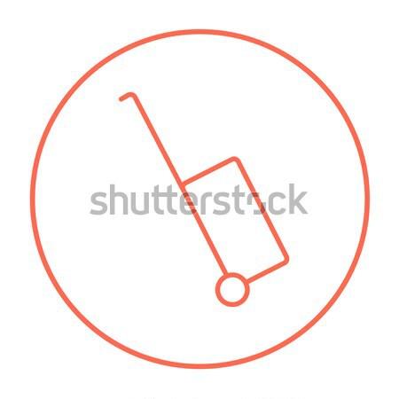 Luggage carrier thin line icon Stock photo © RAStudio