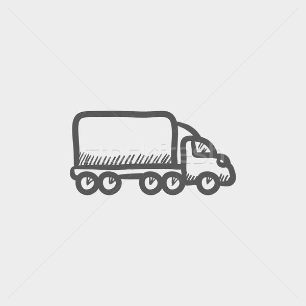 Delivery car sketch icon Stock photo © RAStudio