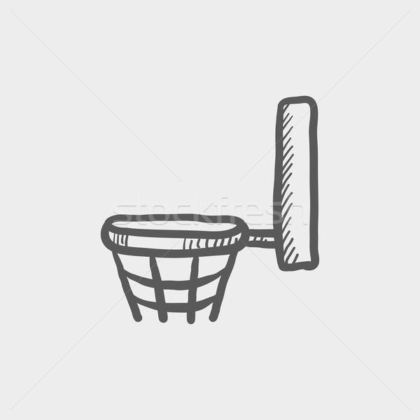 Basketball hoop sketch icon Stock photo © RAStudio