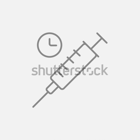 Syringe icon drawn in chalk. Stock photo © RAStudio