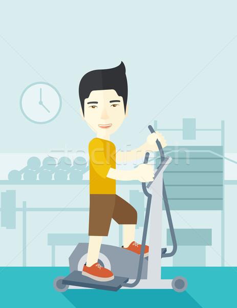 Man making exercises. Stock photo © RAStudio
