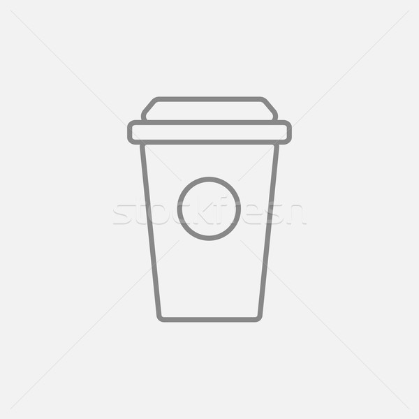 Disposable cup line icon. Stock photo © RAStudio