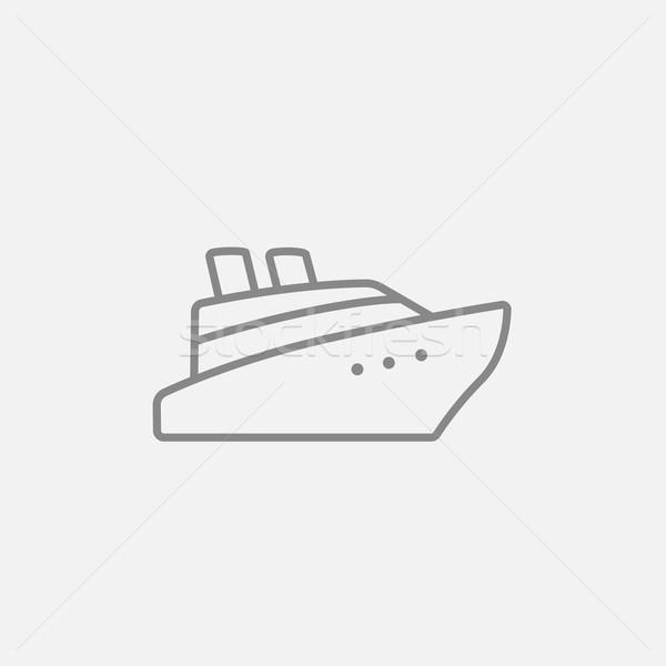 Cruise ship line icon. Stock photo © RAStudio