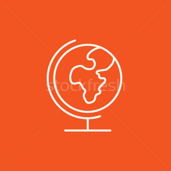 World globe on stand line icon. Stock photo © RAStudio