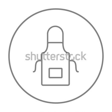 Kuchnia fartuch line ikona internetowych komórkowych Zdjęcia stock © RAStudio