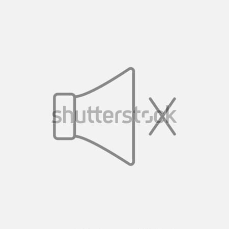 Silenciar alto-falante linha ícone teia móvel Foto stock © RAStudio