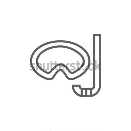 Maske şnorkel hat ikon web hareketli Stok fotoğraf © RAStudio