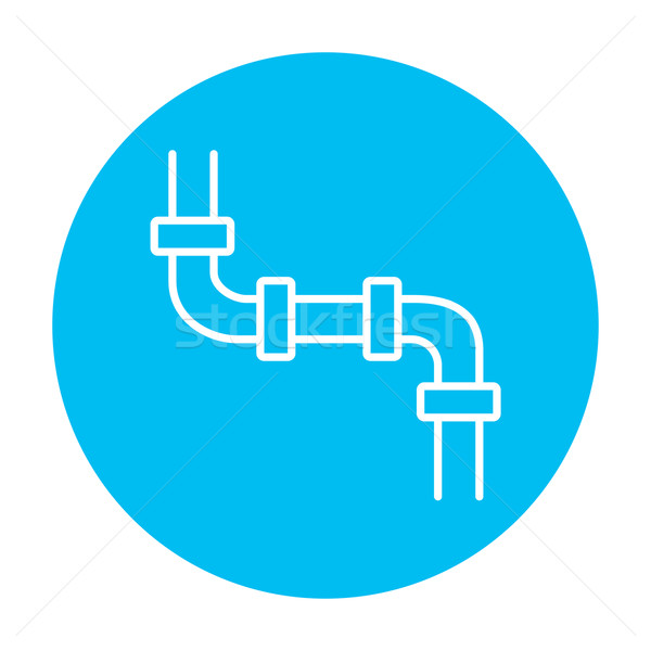 Water pipeline line icon. Stock photo © RAStudio