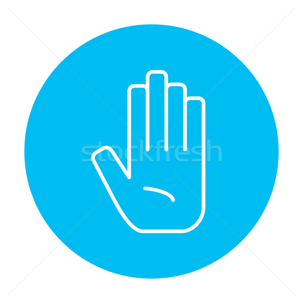 Medical glove line icon. Stock photo © RAStudio