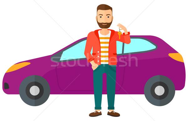 человека ключевые Новый автомобиль Постоянный вектора Сток-фото © RAStudio