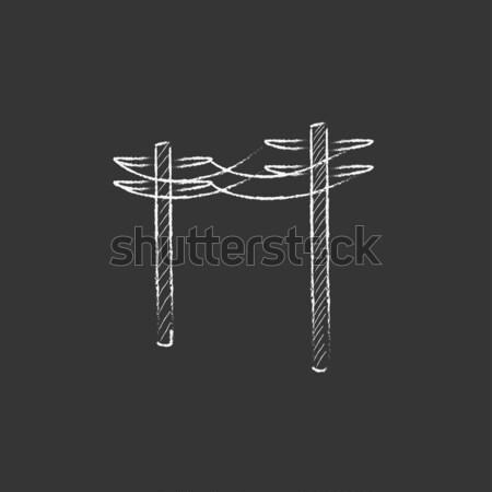 Línea icono web móviles Foto stock © RAStudio