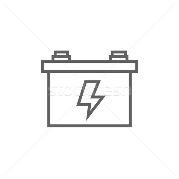 Carro bateria linha ícone teia Foto stock © RAStudio