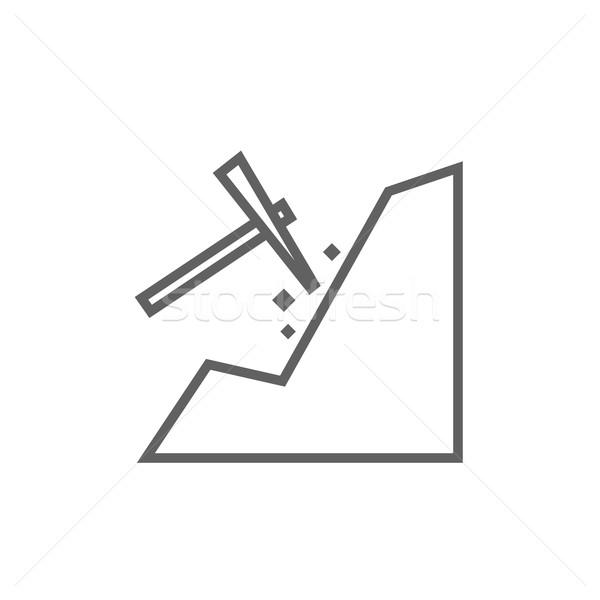 Mining line icon. Stock photo © RAStudio