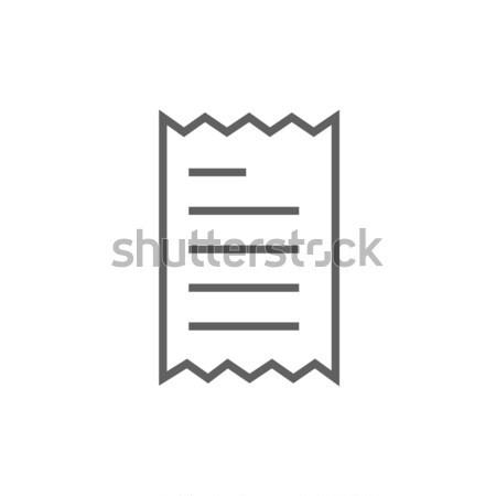 Nyugta vonal ikon sarkok háló mobil Stock fotó © RAStudio