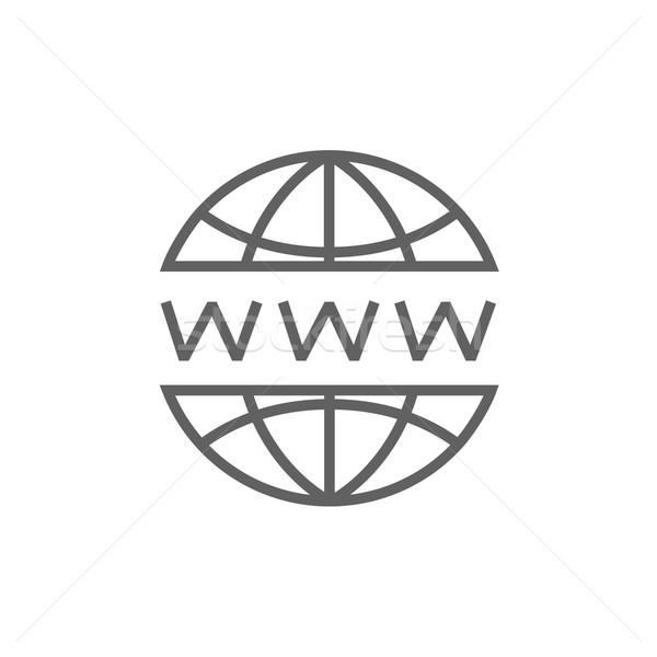Globe internet line icon. Stock photo © RAStudio