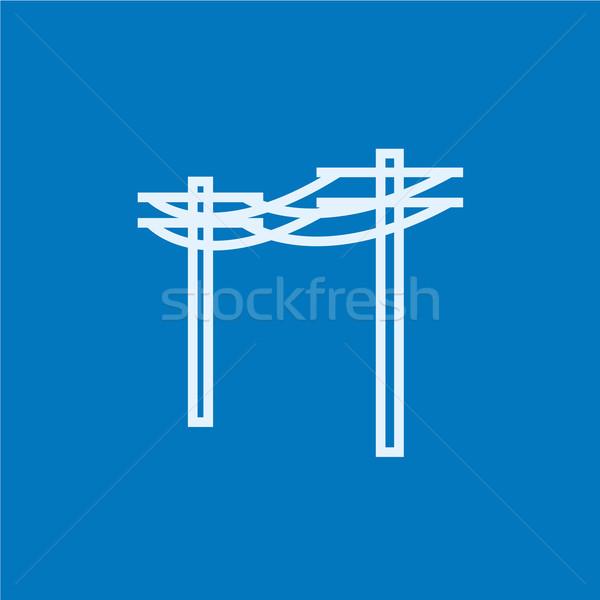высокое напряжение линия икона уголки веб Сток-фото © RAStudio