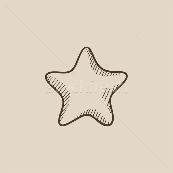 Stock photo: Rating star sketch icon.