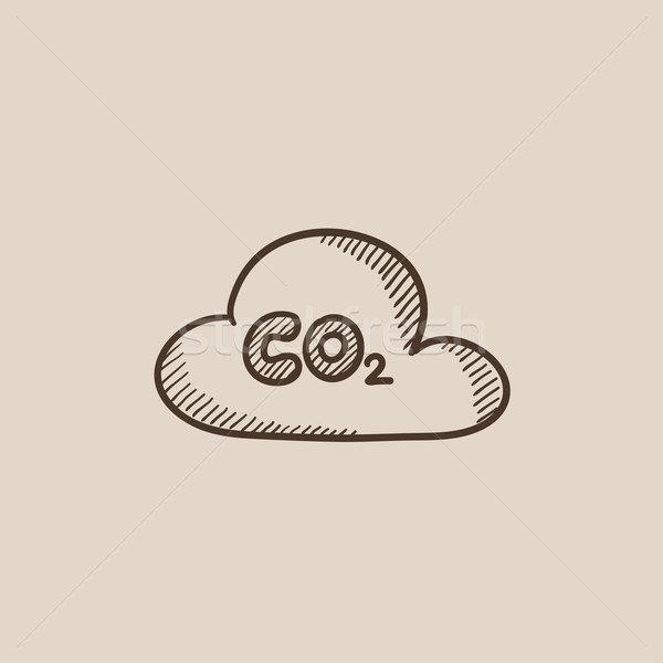 CO2 sign in cloud sketch icon. Stock photo © RAStudio