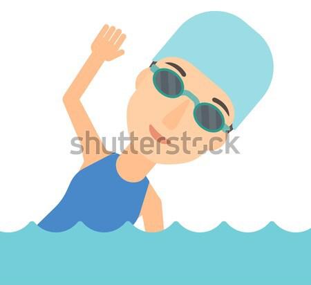 スイマー 訓練 プール 着用 キャップ 眼鏡 ストックフォト © RAStudio