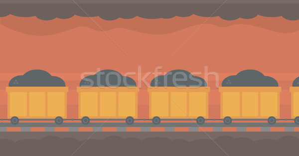 Background of underground tunnel with mining cart. Stock photo © RAStudio