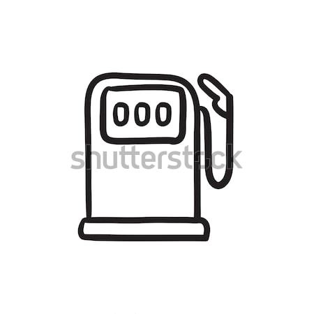 Gasolinera boceto icono vector aislado dibujado a mano Foto stock © RAStudio