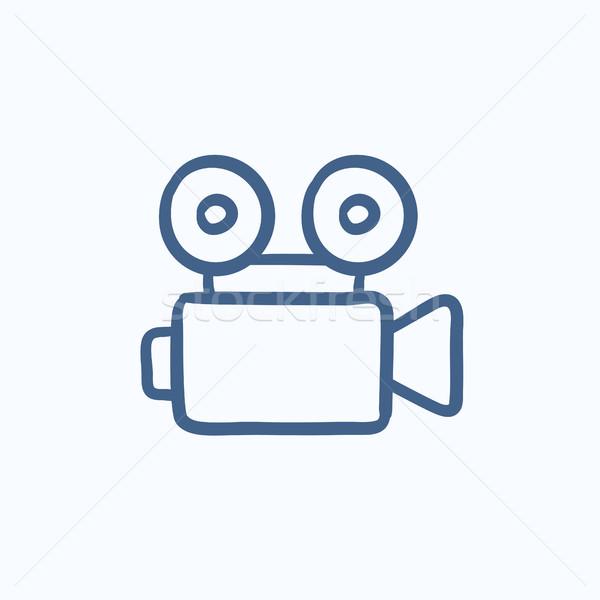 Filmadora esboço ícone vetor isolado Foto stock © RAStudio