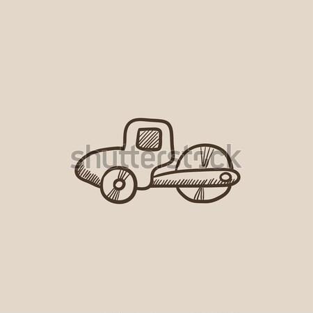 дороги эскиз икона вектора изолированный рисованной Сток-фото © RAStudio
