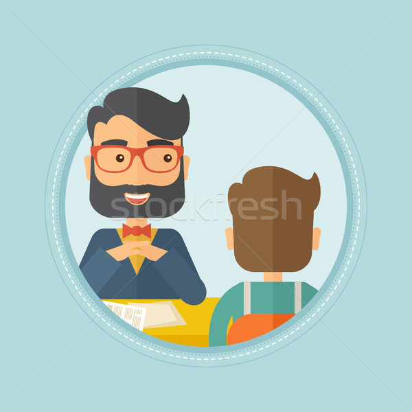 Trabajo solicitante entrevista posición humanos Foto stock © RAStudio