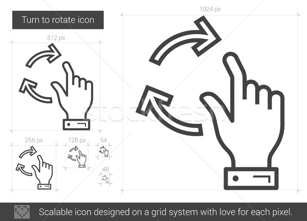 Turn to rotate line icon. Stock photo © RAStudio