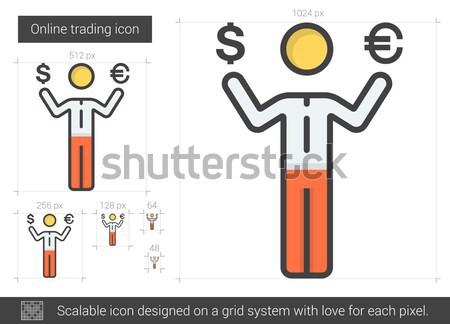 Business mislukking lijn icon vector geïsoleerd Stockfoto © RAStudio
