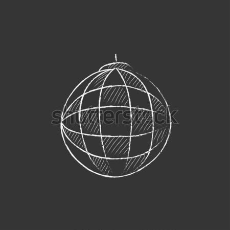 Diszkógömb rajz ikon vektor izolált kézzel rajzolt Stock fotó © RAStudio