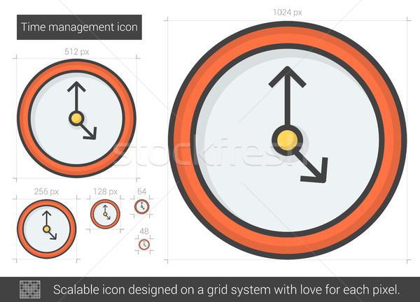 Időbeosztás vonal ikon vektor izolált fehér Stock fotó © RAStudio
