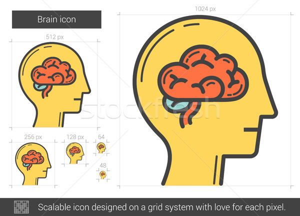 Brain line icon. Stock photo © RAStudio
