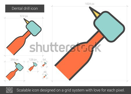 Fogászati fúró vonal ikon vektor izolált Stock fotó © RAStudio