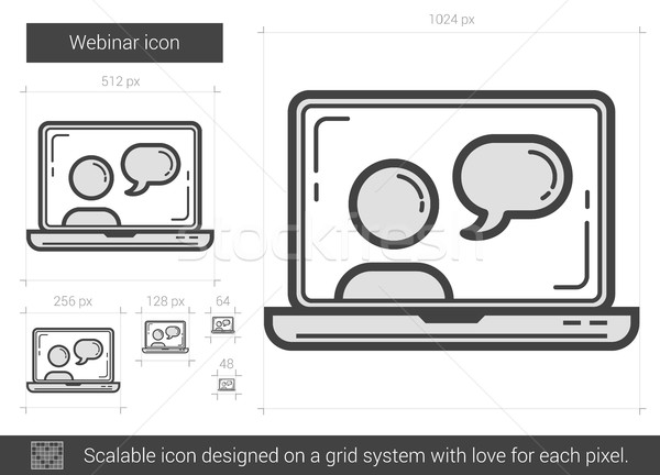 Webinar line icon. Stock photo © RAStudio