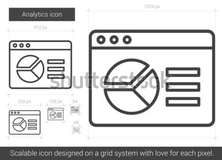 Analityka line ikona wektora odizolowany biały Zdjęcia stock © RAStudio