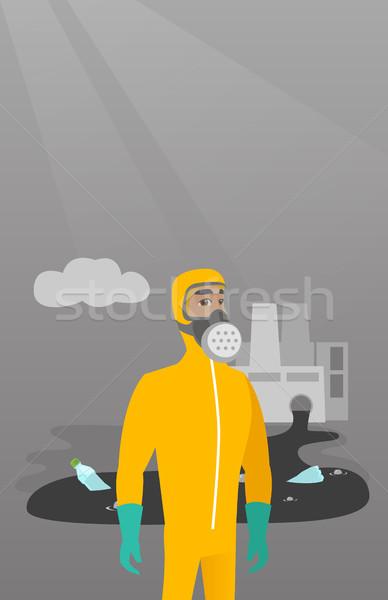 Scientist wearing radiation protection suit. Stock photo © RAStudio