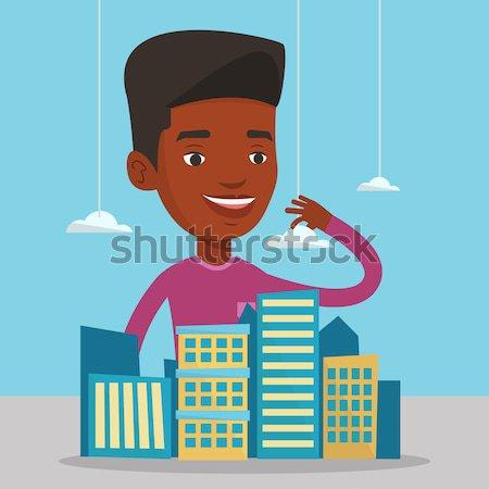 Cidade modelo de vendas gerente Foto stock © RAStudio