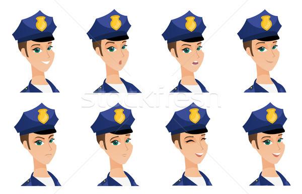 Wektora zestaw policjant zły Zdjęcia stock © RAStudio
