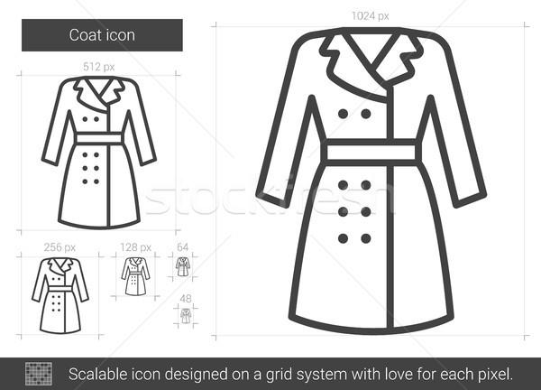 Coat line icon. Stock photo © RAStudio