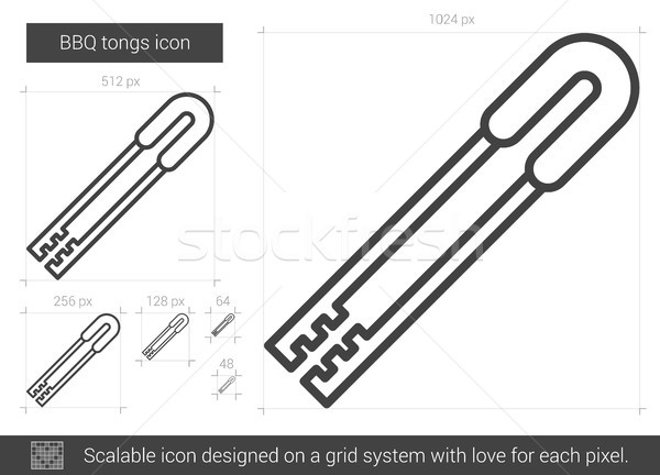 BBQ tongs line icon. Stock photo © RAStudio